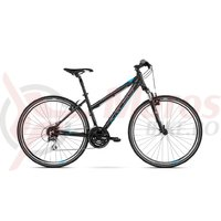Bicicleta Kross Evado 3.0 black blue mat 2018
