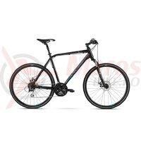 Bicicleta Kross Evado 4.0 black blue mat 2018