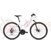 Bicicleta Kross Evado 4.0 DM white blue glossy 2018