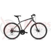 Bicicleta Kross Evado 4.0 graphite red mat 2018