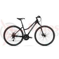 Bicicleta Kross Evado 5.0 DM black turquoise glossy 2018