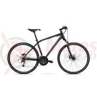 Bicicleta Kross Evado 6.0 black blue mat 2018