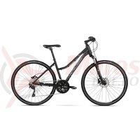 Bicicleta Kross Evado 7.0 dame black blue mat 2018