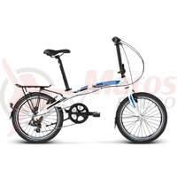 Bicicleta Kross FLEX 2.0 20 white blue black mat 2018