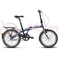 Bicicleta Kross Flex 3.0 20 navy blue graphite mat 2018