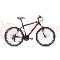 Bicicleta Kross Hexagon 1.0 26 black red white mat 2018