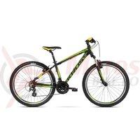 Bicicleta Kross Hexagon 2.0 26 black granat yellow mat 2018