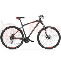 Bicicleta Kross Hexagon 6.0 27s black/graphite/red matte 2019
