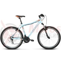 Bicicleta Kross Lea F2 sky blue orange white glossy 2017