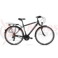 Bicicleta Kross Trans 1.0 black white mat 2018