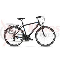 Bicicleta Kross Trans 2.0 black blue silver mat 2018