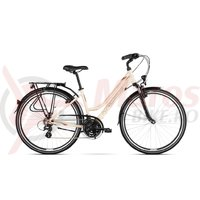 Bicicleta Kross Trans 2.0 D cream brown granat glossy 2018