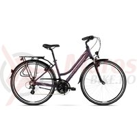 Bicicleta Kross Trans 2.0 D violet pink silver mat 2018