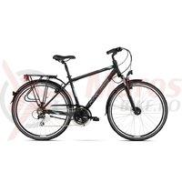 Bicicleta Kross Trans 3.0 black blue silver mat 2018