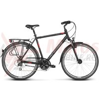 Bicicleta Kross Trans 3.0 black red silver mat 2018