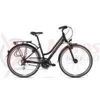 Bicicleta Kross Trans 3.0 D black violet silver mat 2018