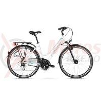 Bicicleta Kross Trans 3.0 DM white lightblue black glossy 2018