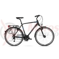 Bicicleta Kross Trans 4.0 black blue silver mat 2018
