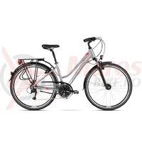 Bicicleta Kross Trans 4.0 DM silver raspberry graphite glossy 20