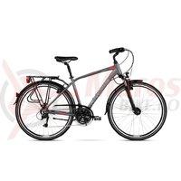 Bicicleta Kross Trans 4.0 graphite red silver mat 2018