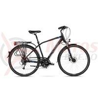 Bicicleta Kross Trans 7.0 black blue silver mat 2018
