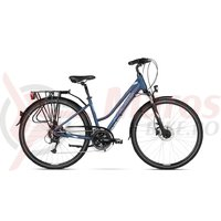 Bicicleta Kross Trans 7.0 DM blue silver mat 2018