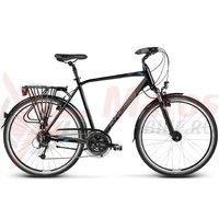 Bicicleta Kross Trans Alp black blue glossy 2017