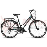 Bicicleta Kross Trans Alp DM black-turquoise matte 2017
