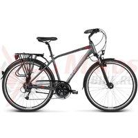 Bicicleta Kross Trans Alp graphite-red matte 2017