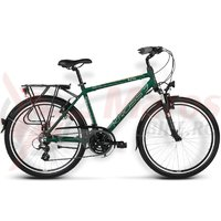 Bicicleta Kross Trans India green dark-platinum matte 2016