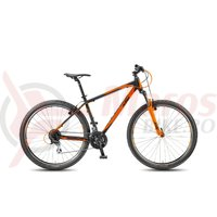 Bicicleta KTM Chicago 29.24 Classic negru mat/orange