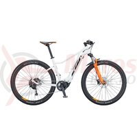 Bicicleta KTM Macina Race 292 M43 cm alb metalic (negru+portocaliu)