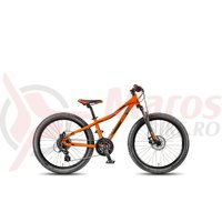 Bicicleta KTM Wild Speed 24.24 Disc negru/orange 2018