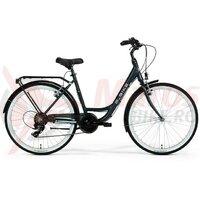 Bicicleta M-Bike CityLine 726 - negru/albastru