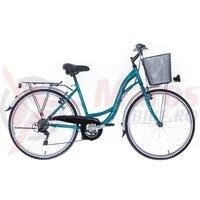Bicicleta Neuzer dama City 6v JD - MB - 26'' Turcoaz/Alb