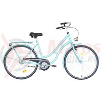 Bicicleta Neuzer dama Classic 1 viteza - 26' Celeste/Alb