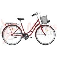 Bicicleta Neuzer dama Classic 1 viteza 28'' - Rosu Rubin/Maro