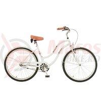 Bicicleta Neuzer dama Cruiser Beach 1v - 26'' Alb/Negru