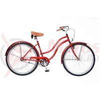 Bicicleta Neuzer dama Cruiser Beach 1v - 26'' Rosu Rubin /Alb