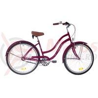 Bicicleta Neuzer dama Cruiser California N3 - 26'' Rosu Rubin/Alb