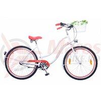 Bicicleta Neuzer dama Cruiser Picnic 3S - 26'' Alb/Rosu