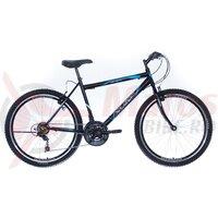 Bicicleta Neuzer Nelson TY37 21v -  26' Negru/Alb-Albastru