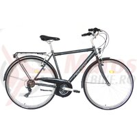 Bicicleta Neuzer Ravenna 30 - 28' Antracit/Alb-Cian