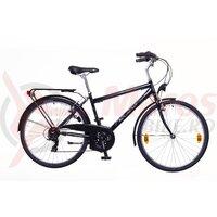 Bicicleta Neuzer Ravenna 30 - 28' Negru/Alb-Albastru