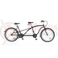 Bicicleta Neuzer Twilight Tandem 3S - 26' Negru