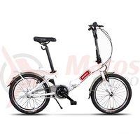Bicicleta Pegas Camping 3s pliabila alb perlat