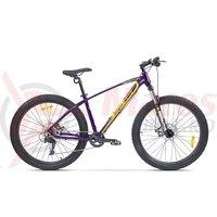 Bicicleta Pegas Drumuri Grele 27.5 mov/galben
