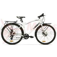 Bicicleta Pegas Hoinar 8S alb perlat