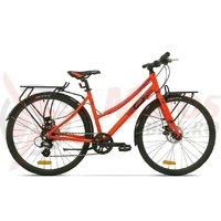 Bicicleta Pegas Hoinar 8S portocaliu neon
