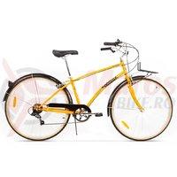 Bicicleta Pegas Popular Alu 7S portocaliu neon
